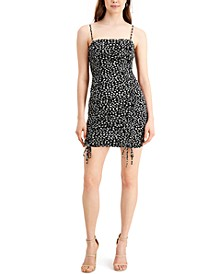 Ditsy-Print Ruched Mini Dress, Created for Macy's
