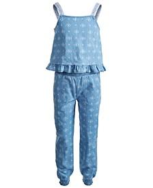 Toddler Girls All Over Print Top and Pant Challis Set