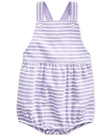 Baby Girls Striped Bubble Shortall