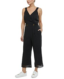 Crochet-Trim Jumpsuit