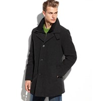 Deals on Calvin Klein Coleman Wool-Blend Overcoat