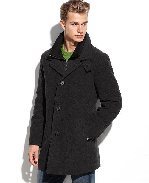 Calvin Klein Coleman Wool Blend Overcoat Coats Amp Jackets