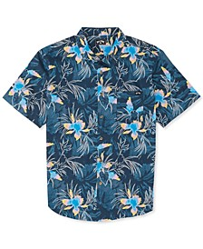 Toddler Boys Sundays Floral Short-Sleeve Shirt