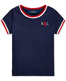 Little Girls Embroidered Cotton Jersey T-Shirt