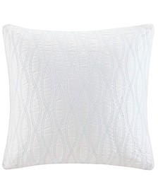 """Coastline Embroidered 18"""" Square Decorative Pillow"""