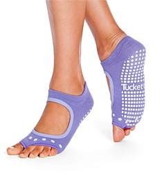 Women's Open Toe Grip Sock for Pilates Barre Yoga Allegro