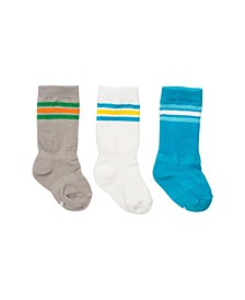 Baby Boy Mixed Classic Athletic Knee Socks, Pack of 3