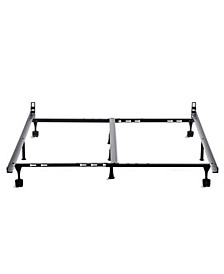 Universal Bed Frame with Rug Rollers, King
