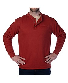 Men's Thermal Knit Henley Pullover