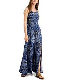Paisley Slit Maxi Dress, Regular & Petite Sizes