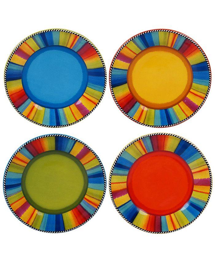 Certified International - Sierra 4-Pc. Salad Plates asst.