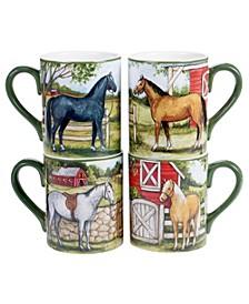 Clover Farm 4-Pc. Mugs asst.