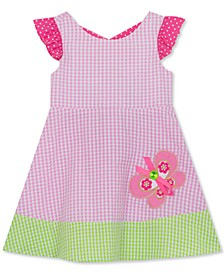 Toddler Girls Seersucker Butterfly Dress