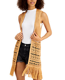 Freshman Juniors' Fringed Vest