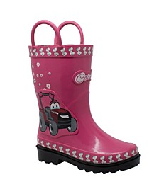 Toddler Girls 3D Fern Farmall Rubber Boot