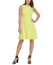 Bow-Trim Cutout-Back Dress