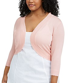 Plus Size Scalloped Cardigan