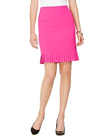 Petite Pleated Flounce Pencil Skirt