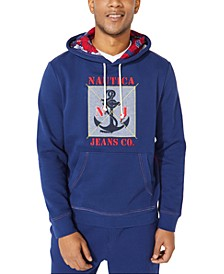 Jeans Co. Men's Graphic Print Hoodie
