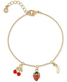 Gold-Tone Tropical Charm Bracelet