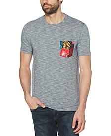 Men's Floral Pocket T-Shirt