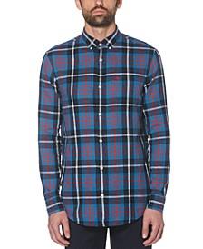 Men's Oxford Plaid Woven Shirt