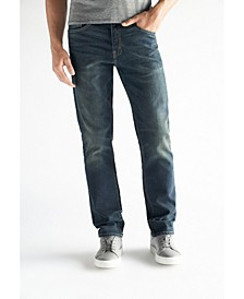Men's Slim Straight Fit Performance Stretch Denim Jeans, Moore Wash