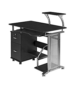 Rothmin Computer Desk with Storage Cabinet