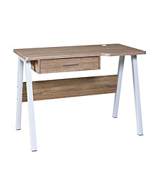 Basics Desk with Drawer and Dual USB Charging Station