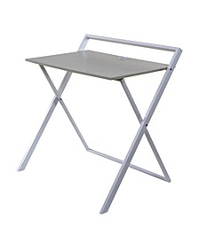 Basics No Assembly Folding Desk with Dual USB Charger