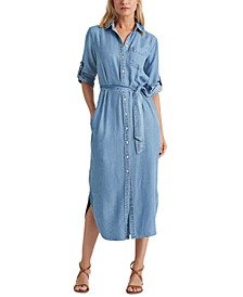 Chambray Belted Shirtdress