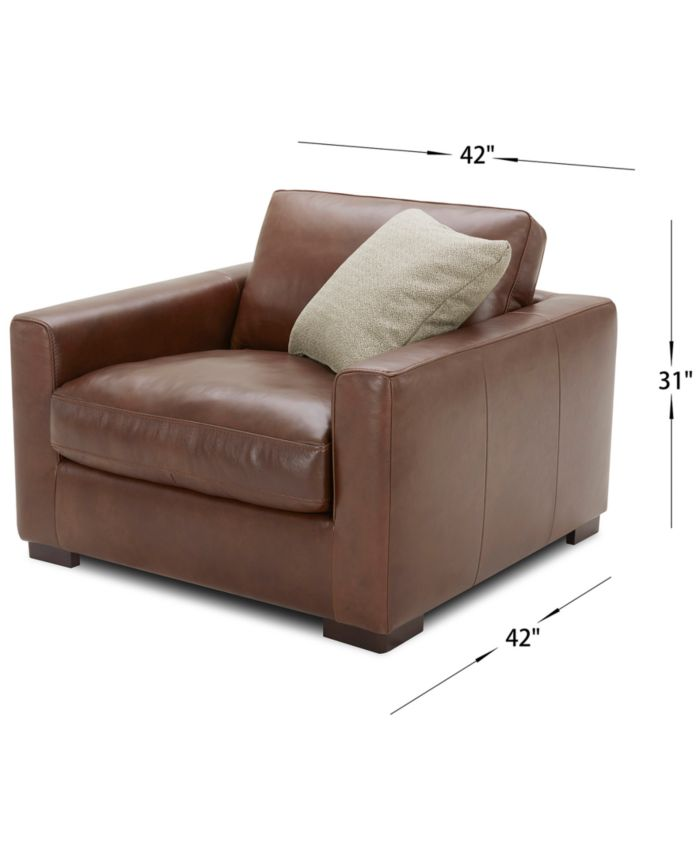 """Furniture Chelby 31"""" Leather Chair & Reviews - Furniture - Macy's"""