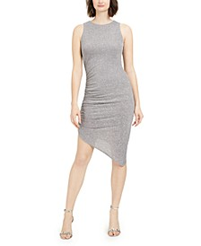 Asymmetrical Metallic Sheath Dress