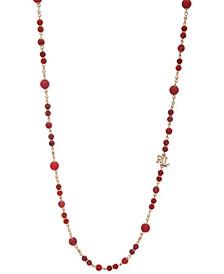 "Bead & Logo 42"" Strand Necklace"