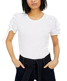 Petite Ruffled-Sleeve Top, Created for Macy's