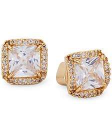 Pavé Princess Crystal Stud Earrings