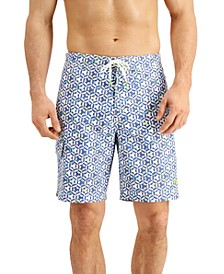 "Men's Baja Kaleidoscope Cay UPF 30 Geo-Print 9"" Board Shorts"