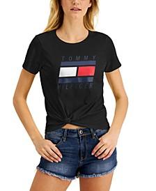 Logo Knot-Front T-Shirt