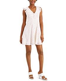 Ruffled Polka-Dot A-Line Dress, Created for Macy's