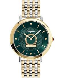 Women's Swiss Minuetto Two-Tone Stainless Steel Bracelet Watch 36mm