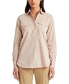 Petite Striped Cotton Shirt