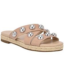 Prisca Ball-Studded Espadrille Sandals