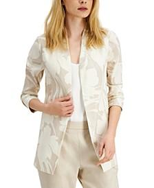 Floral-Print 3/4-Sleeve Blazer, Created for Macy's