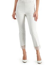 Alfani Lace-Hem Ankle Pants, Created for Macy's