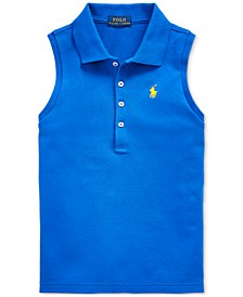 Toddler Girls Stretch Mesh Polo Shirt