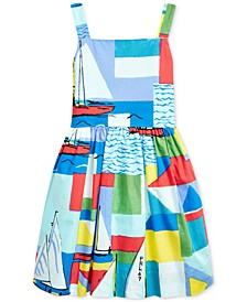 Toddler Girls Sailboat-Print Cotton Dress