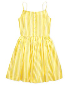 Big Girls Striped Cotton Poplin Dress