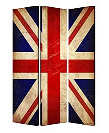 Double sided with different Design 3 Panel 6' Union Jack Screen
