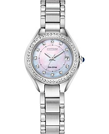 Eco-Drive Women's Silhouette Crystal Stainless Steel Bracelet Watch 26mm