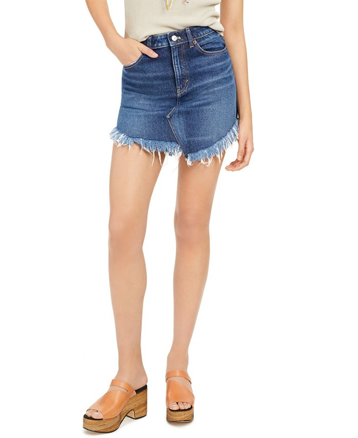 Free People - Bailey Cotton Denim Mini Skirt